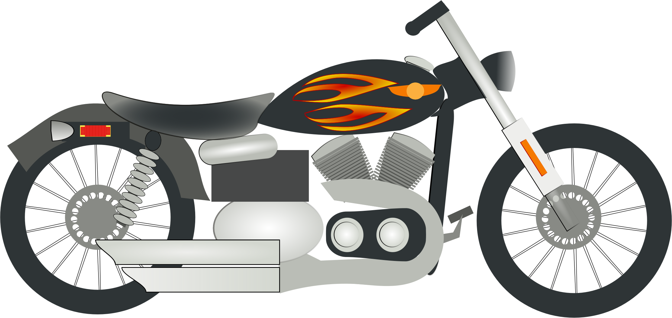 Motorcycle clipart. Fire black png
