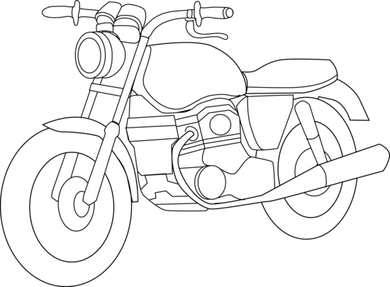 Motorcycle clipart colour. Color free motorbike coloring