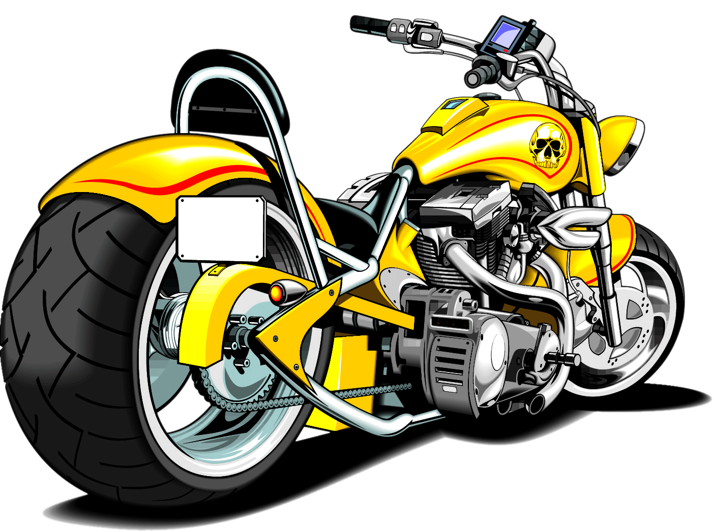 Transparent motorcycle clipart. Harley silhouette at getdrawings