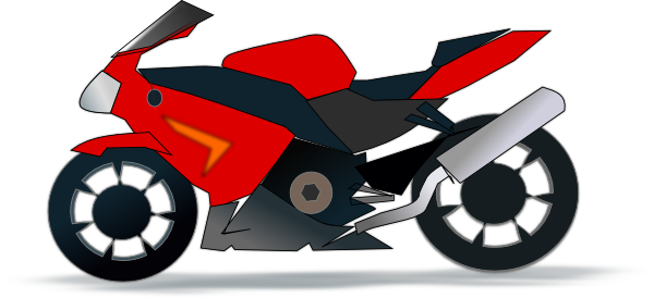Motorcycle clipart two wheeler. Simple panda free images