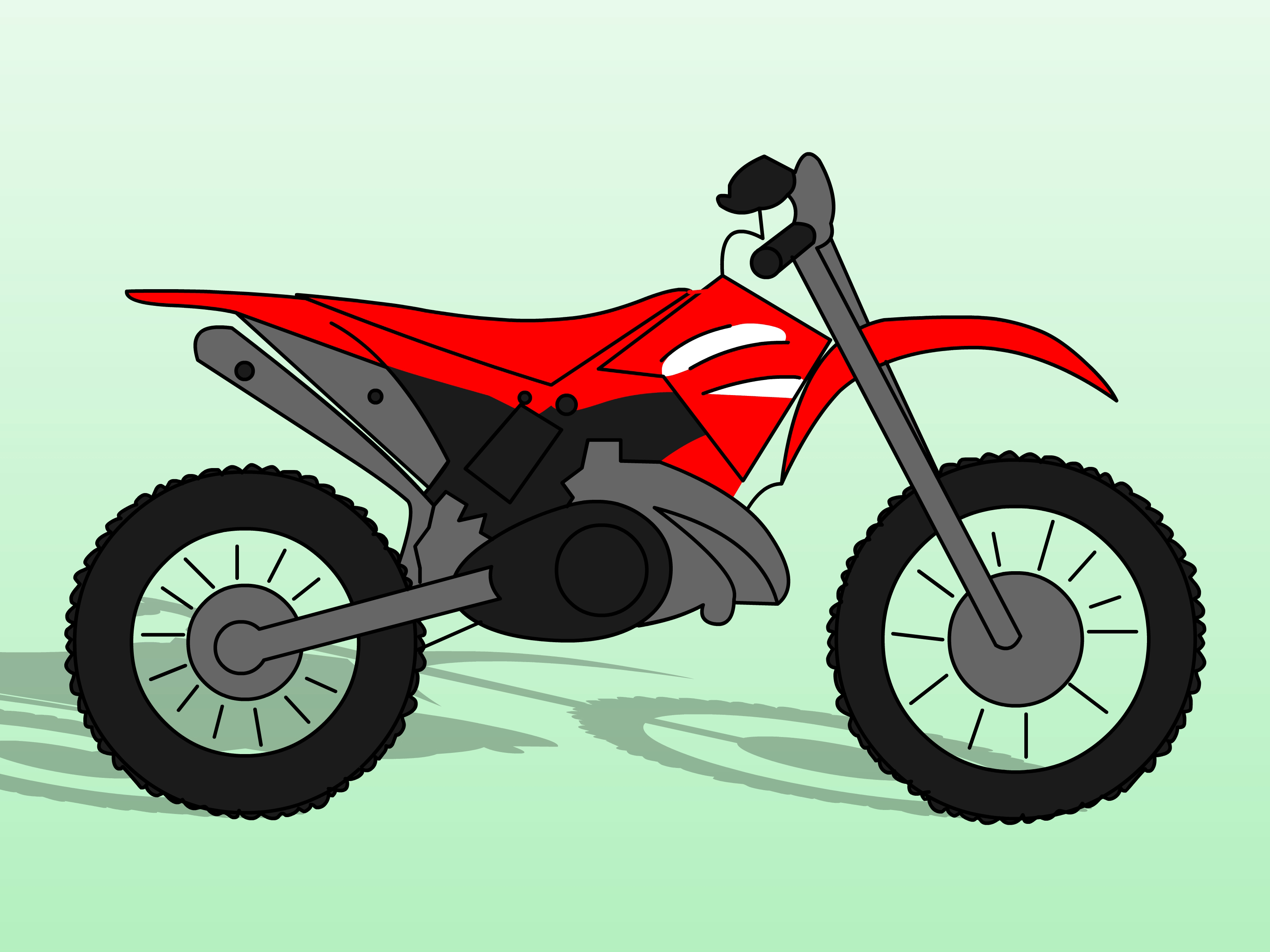 Motorcycle clipart simple. Easy bike drawing at