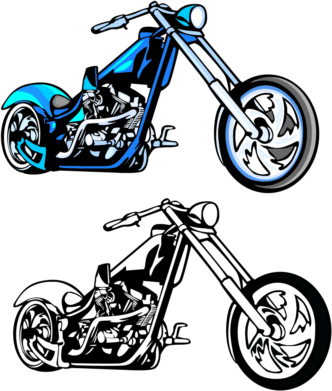 Motorcycle clipart simple. Four wheeler at getdrawings
