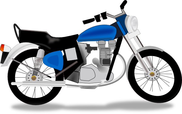 Motorcycle cartoon png. Simple clipart panda free