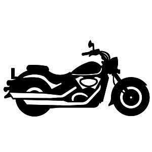 Motorcycle clipart stencil. Harley of motorbikes choppers