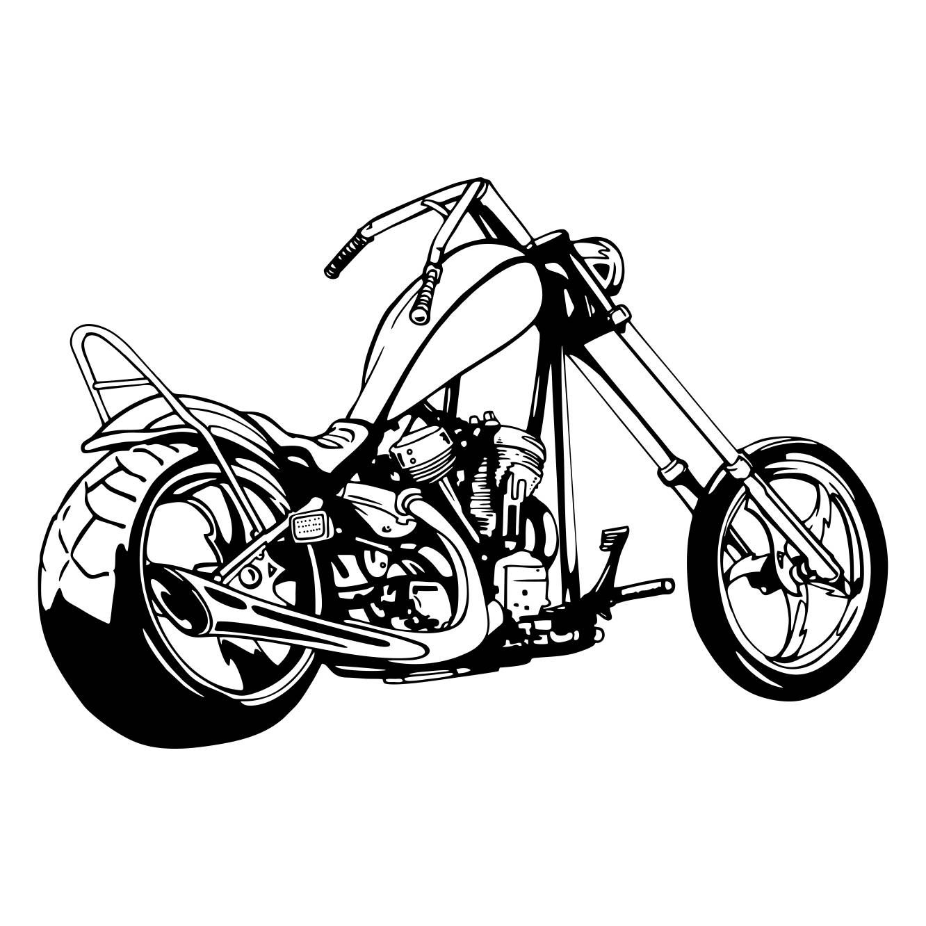 Motorcycle clipart two wheeler. Chopper svg dxf eps