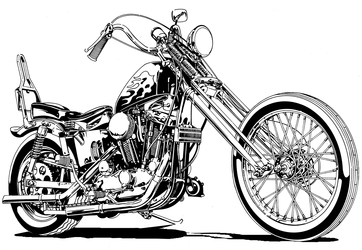 Motorcycle clipart two wheeler. Drawing at getdrawings com