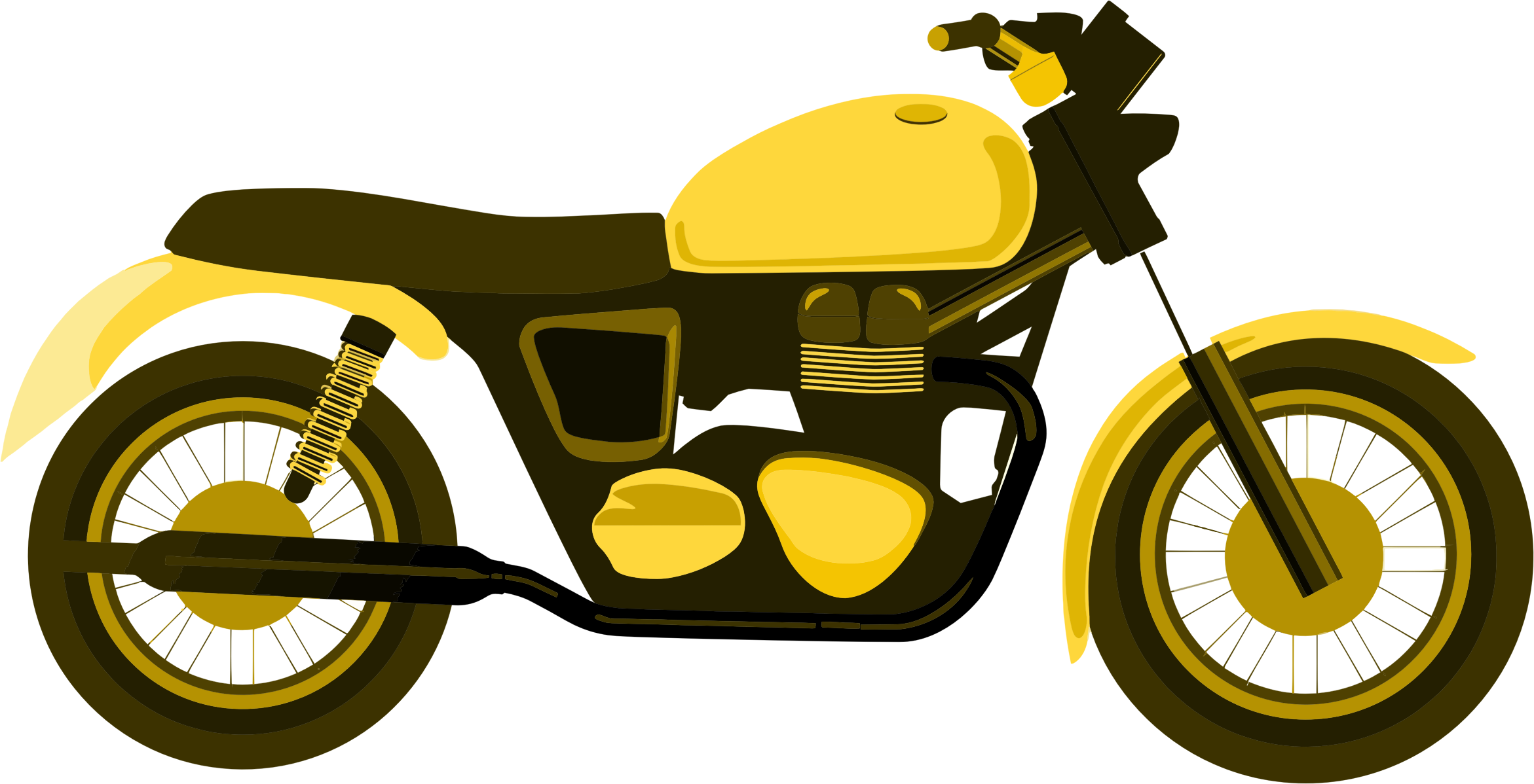 Motorcycle .png. Yellow icons png free