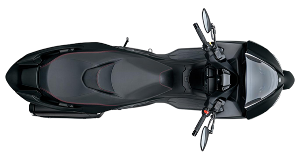 Motorcycle top view png. An image sketch