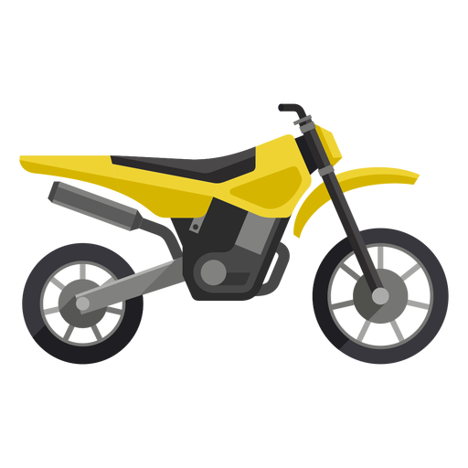 Transparent motorcycle yellow. Off road icon png