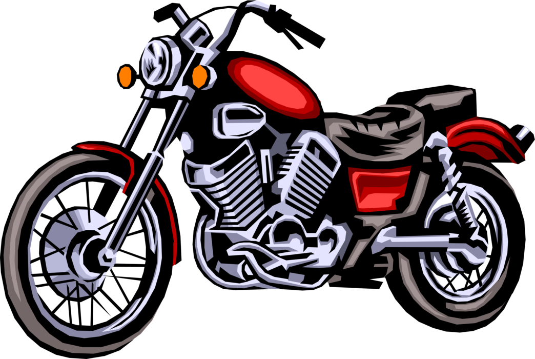 Vector motorcycles. Motorcycle or motorbike image picture freeuse