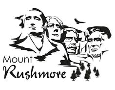 Mount rushmore clipart. Clip art pinterest and