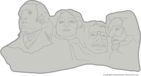 Mount rushmore clipart black and white. Free patriotic click to