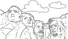 Mount rushmore clipart craft. Mont ive been there