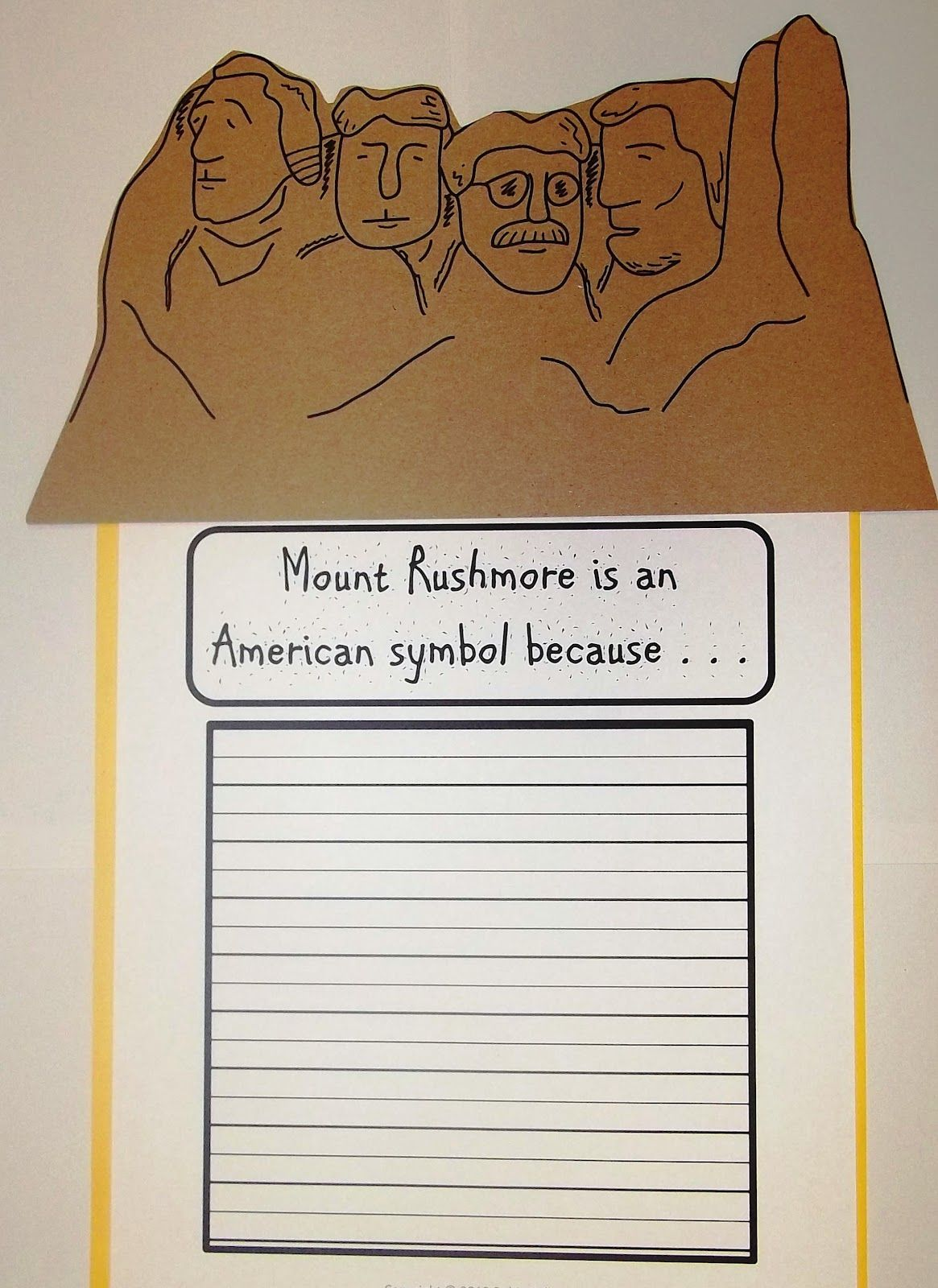 Mount rushmore clipart craft. American symbols for kids