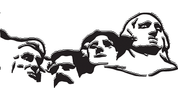 Mount rushmore clipart drawing. Decal