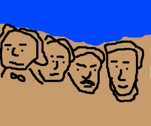mount rushmore clipart easy