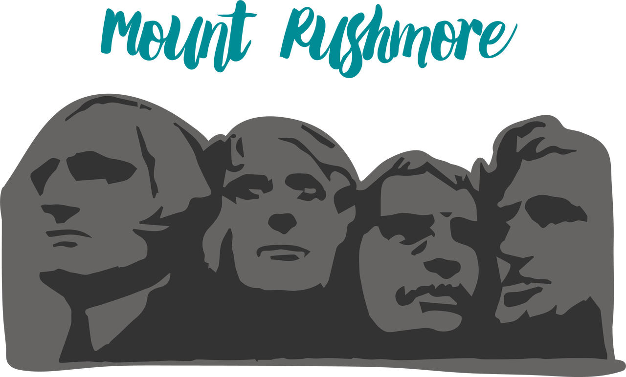 Mount rushmore clipart model. Svg cut file snap