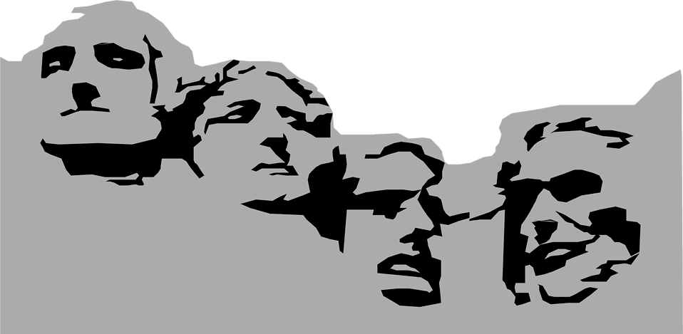 Mount rushmore clipart model. Free stock photo illustration