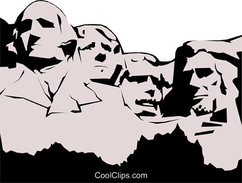 Mount rushmore clipart sculpture. Project clip arts for