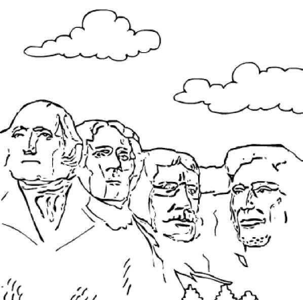 Mount rushmore clipart sheet. What a great way