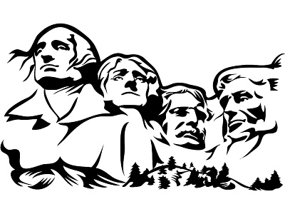 Mount rushmore clipart. Clipground