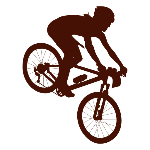 Cycle vector. Mountain bike downhill transparent