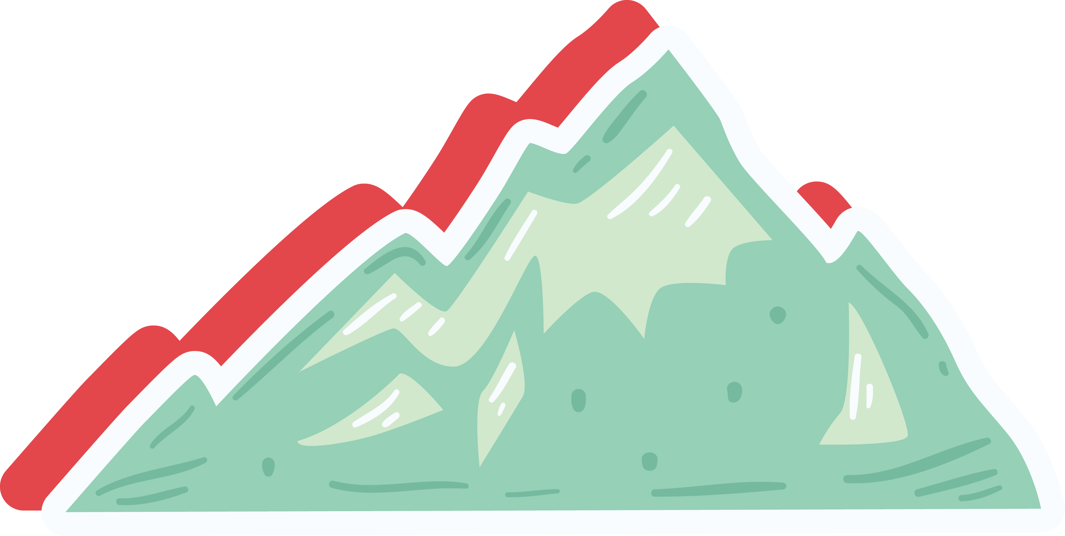 Mountain cartoon png. Clip art green icon