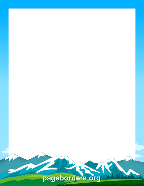 Mountain clipart banner. Printable border use the