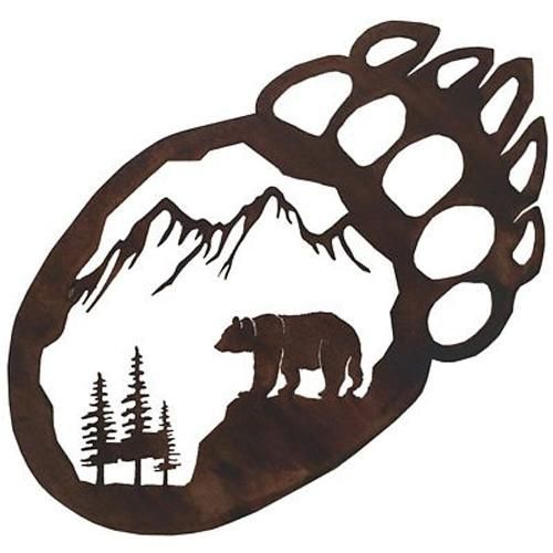 Mountain clipart bear. Ideas about paws