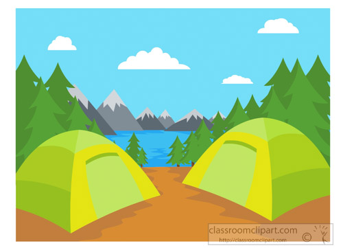 mountain clipart camping