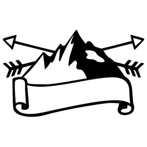 Mountain clipart silhouette. Design store logo sophie