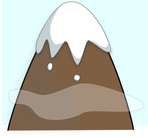 Mountain clipart simple. Brown one