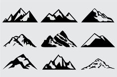 Mountain clipart simple. Perfect ideas black and