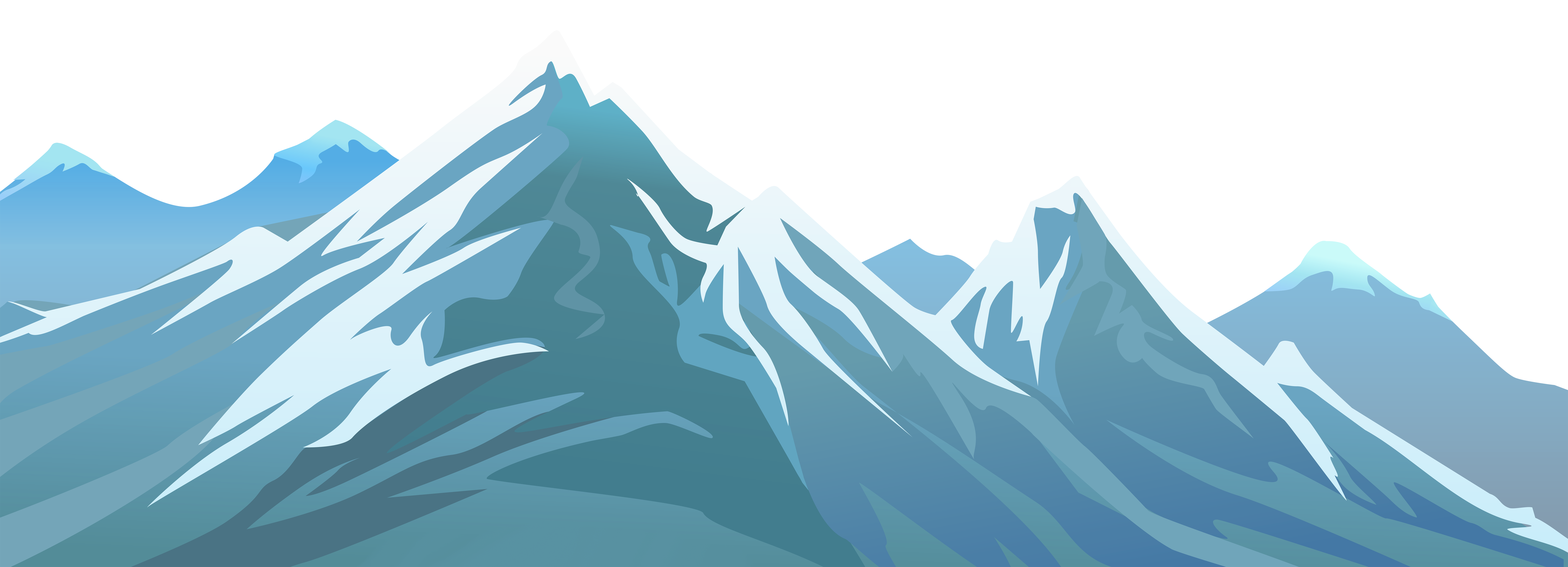 Snowy mountain transparent png. Mountains clipart image free stock