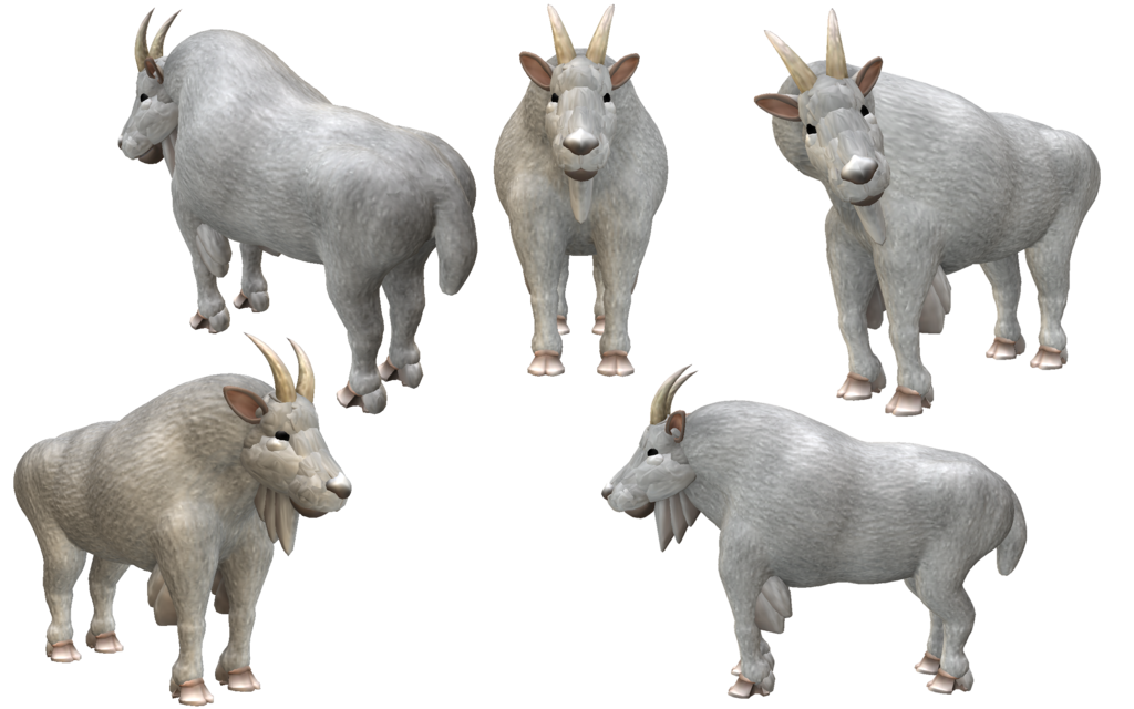 Mountain goat png. Spore creature by evilution