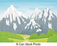 Mountains clipart. Snowy mountain illustrations and png free