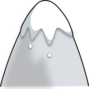 snow clipart mountain