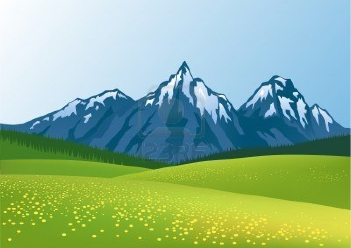 Mountains clipart animated. Cartoon group mountain background
