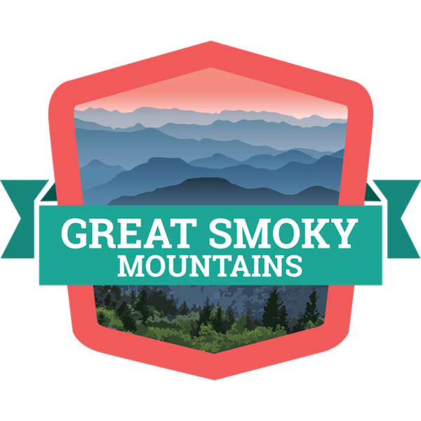 Mountains clipart badge. Great smoky drive the