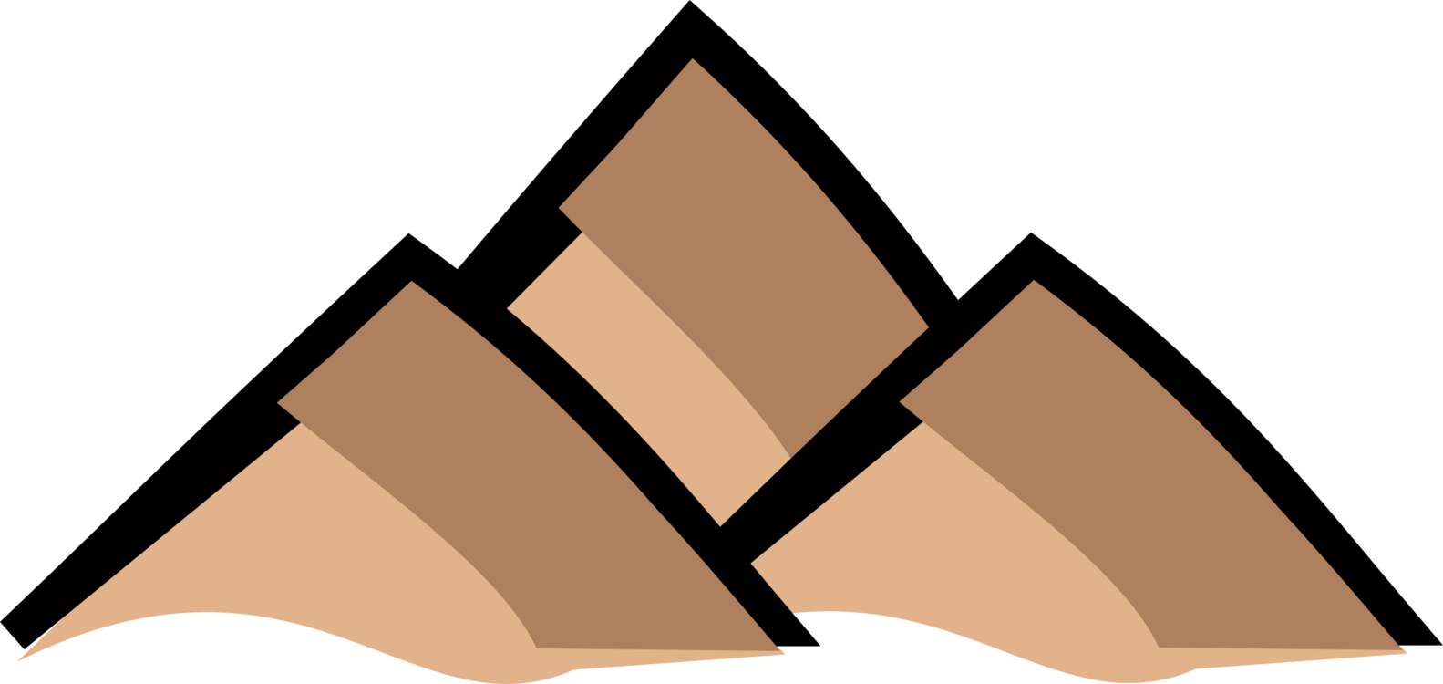 Mountains clipart icon. Map symbolization computer icons
