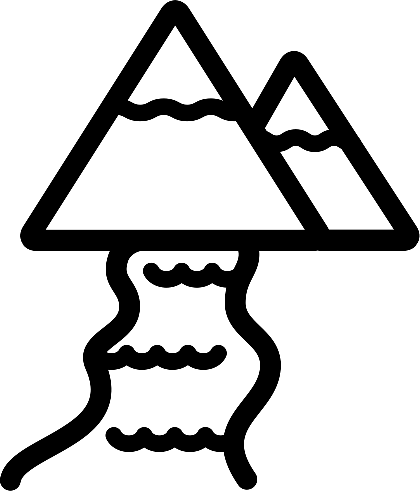 Mountains clipart icon. River and svg png