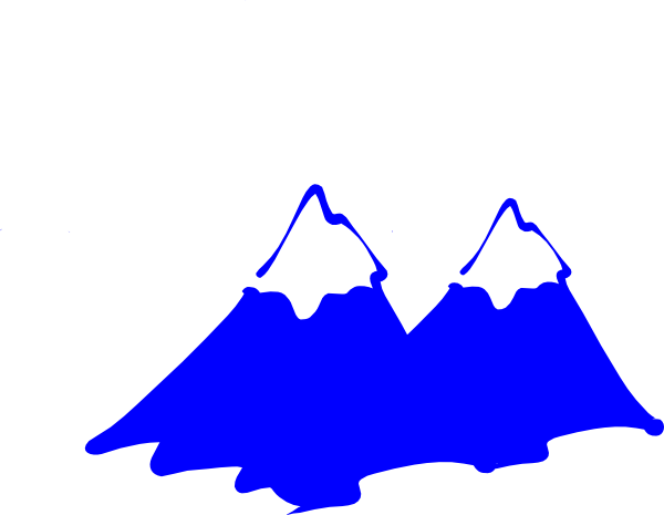 Mountains clipart logo. Mountain blue clip art