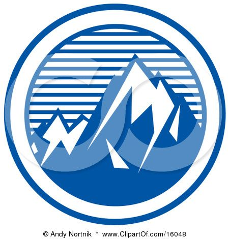 Mountains clipart logo. Mountain pinnacle clip art