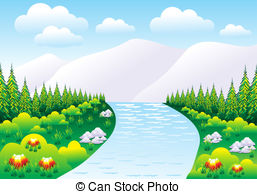Nature clipart. Mountain spring water illustrations jpg black and white library