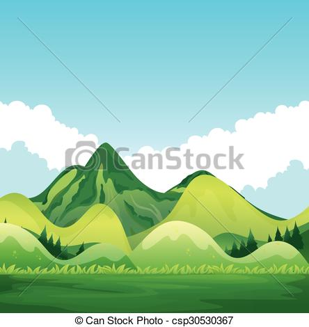 With green mountain and. Nature clipart greenery svg royalty free library