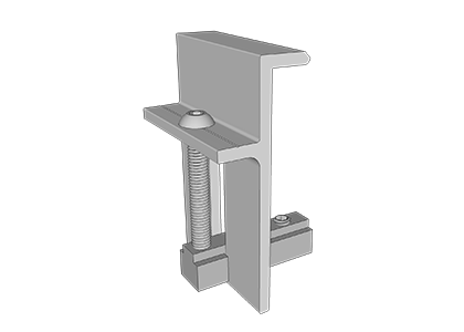 Mounting clip stair. End xl rail to