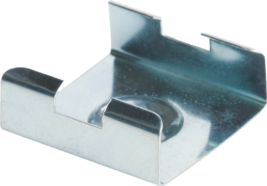 Mounting clip stair. Metal for angular track