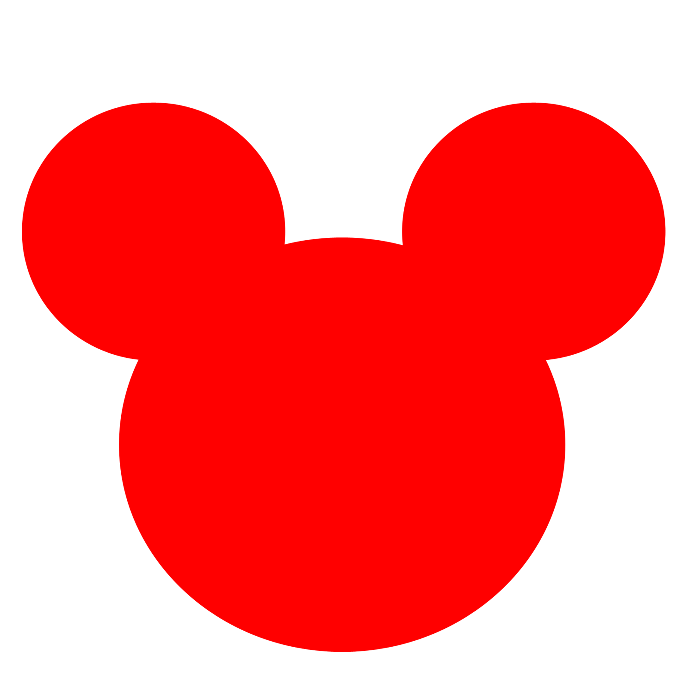 How the ears became. Mickey mouse head outline png banner transparent download