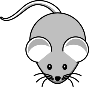 Mouse clip clipart. Light gray art at