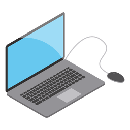 Mouse clip good laptop. Flat icon illustration transparent